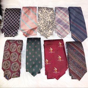 Polo Ralph Lauren lot of 9 ties vintage to now GUC
